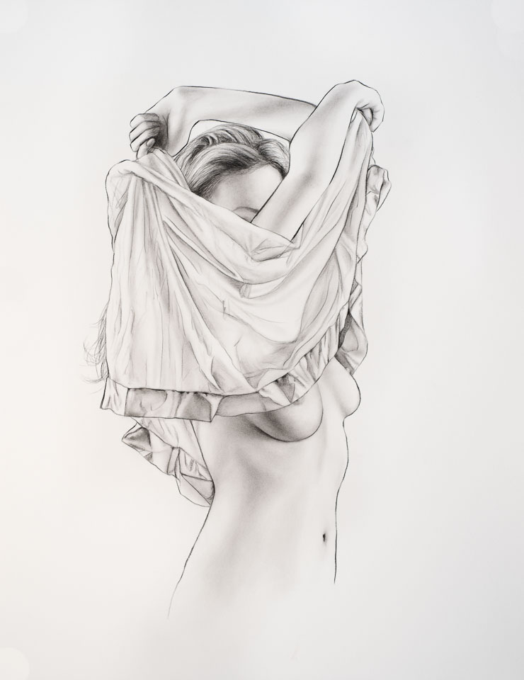 Study, 2016, charcoal on paper, 24 x 18 in