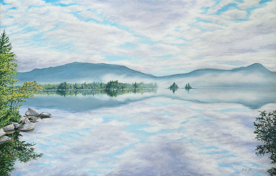 Clearing Mist , 2010, oil on linen, 18 x 28 in