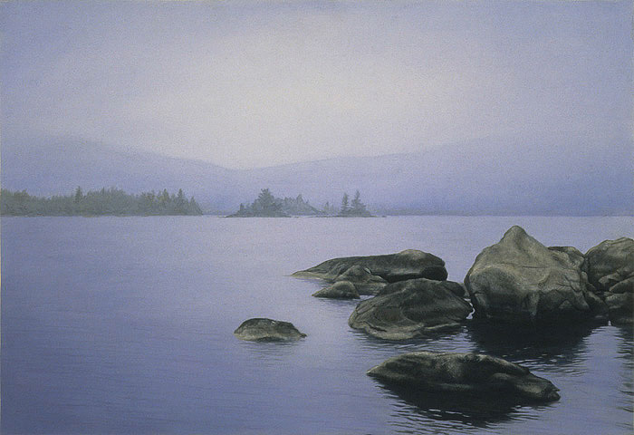 Foggy View, 2006, oil on panel, 13 x 19 in
