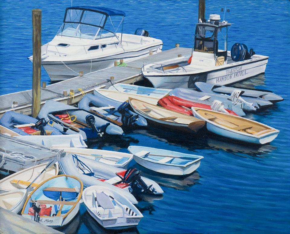Harbor Patrol, 2008, oil on panel, 9 x 11 in